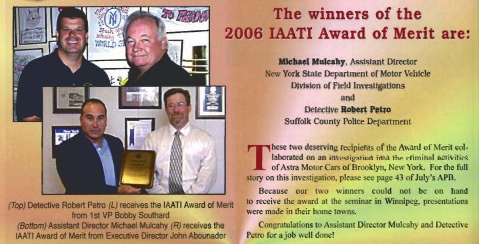 The Iaati Award Of Merit International Association Of