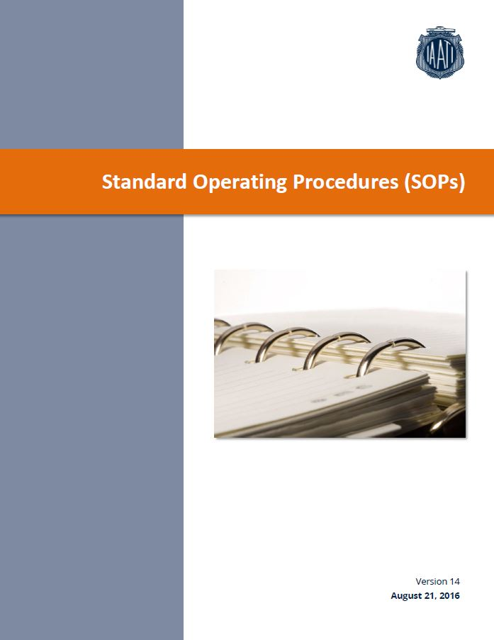 Cover image of SOPs document