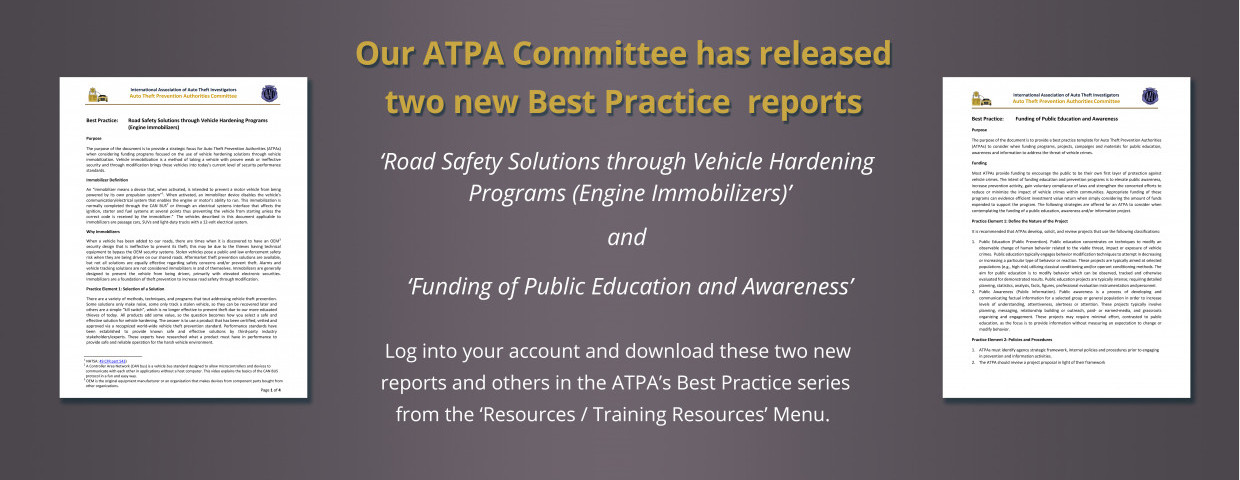 ATPA - Two new Best Practice reports