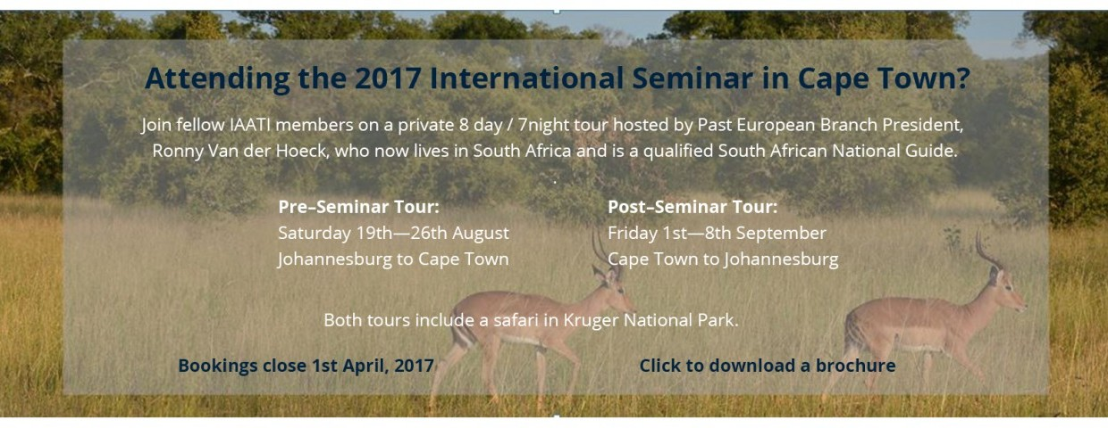 2017 Seminar Pre and Post tours
